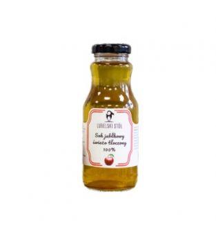 Sok jabłkowy 100% tłoczony Lubelski Stół 250ml - szklanka soku