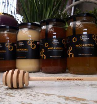 Miód pszczeli wielokwiatowy 1000 g prosto z pasieki