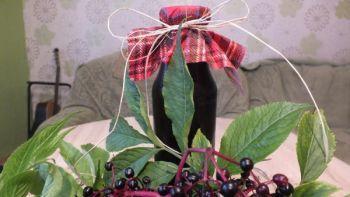 Syrop z ekologicznych owoców  bzu czarnego