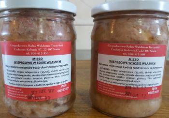 Słoiki mięso mielone i kawałki