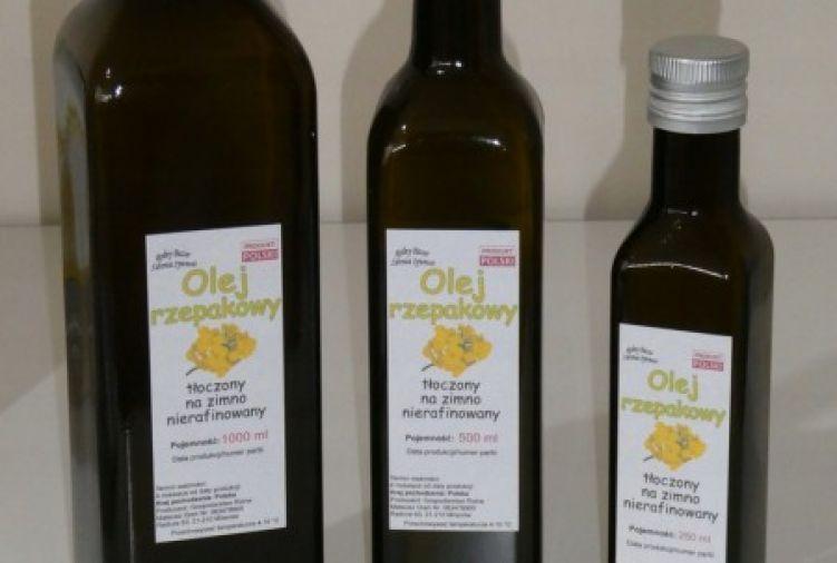 Olej rzepakowy tłoczony na zimno - 250 ml